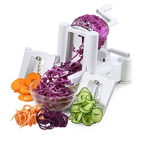 Spiralizer Heavy Duty Tri-Blade Vegetable Spiral Slicer Veggie Pasta Spaghetti Chopper Maker Hand Vegetable Chopper Device