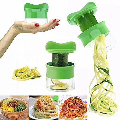 1Pc Vegetable Spiralizer - Vegetable Fruit Spiral Slicer - Carrot Cucumber Grater - Spiral Blade Cutter - Salad Tools - Zucchini Pasta Noodle Spaghetti Maker