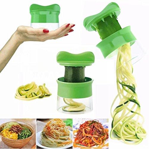 Remiel Store Spiral Vegetable Fruit Slicer Cutter Grater Twister Peeler Kitchen Gadgets Tools Green 79x 88CM