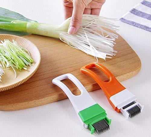 TA BEST 2 Pack Kitchen Onion Cutter Slicer Cutlery Kitchen Onion Vegetable Cutter Sharp Scallion Cutter Shred
