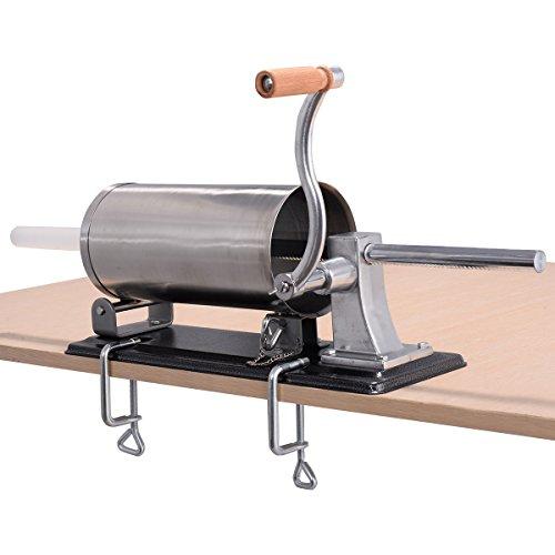 Goplus Stainless Steel Sausage Stuffer Maker Meat Filler Commercial 48L