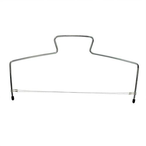 LEORX Adjustable Wire Cake Slicer Cutter Leveler Silver