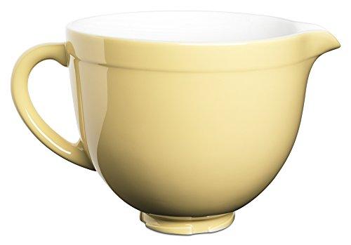 KitchenAid KSMCB5MY 5-Qt Tilt-Head Ceramic Bowl - Majestic Yellow