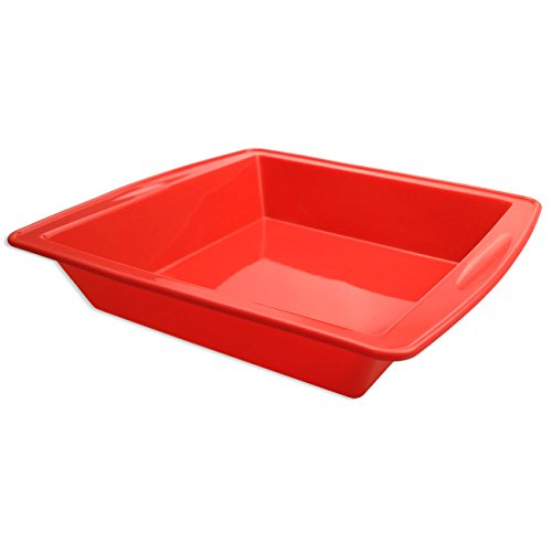 Silicone Cake Pan 85  Nonstick Bakeware Baking Mould Brownie Pan for bread Chocolate Pie Pizza fudge and brownies