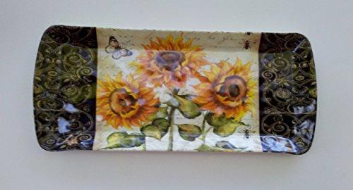 15 Sunflowers Melamine Plastic Serving Tray