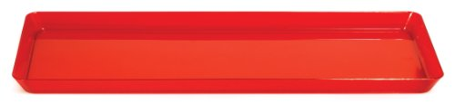 Creative Converting Rectangle Plastic Serving Tray 155-Inch Translucent Red