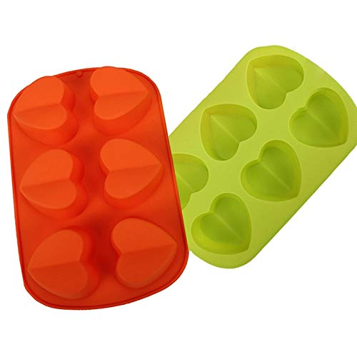 Food Grade Silicone Material Love Heart Cake Tray Silicone Cake Cup Mold Silicone Mould Baking Decoration Tool