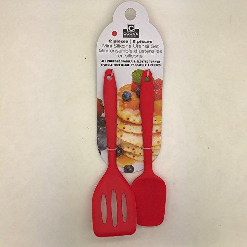 Cooks Corner 2-Piece Mini Silicone Utensil Set Red