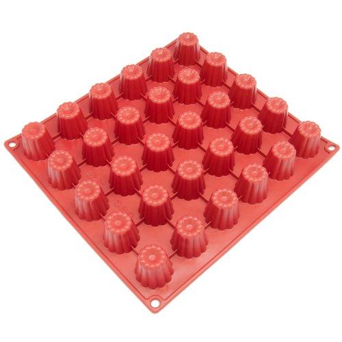 Freshware Silicone Mold for Canele Fluted Cake and Bordelais Mini 30-Cavity