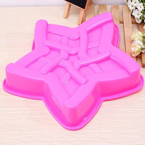 BoatShop Large Pentagram Silicone Cake Pan Mold Baking Pan Tray