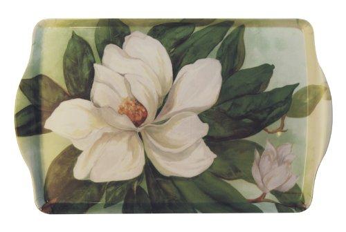 15 Southern Magnolia Handled Melamine Serving Tray