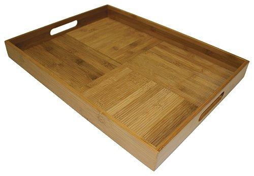 Simply Bamboo Large 20 X 15 Criss-Cross Rectangular Serving Tray