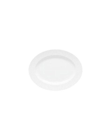 Kate Spade New York Wickford Dinnerware White Porcelain Oval Serving Platter by Lenox 16