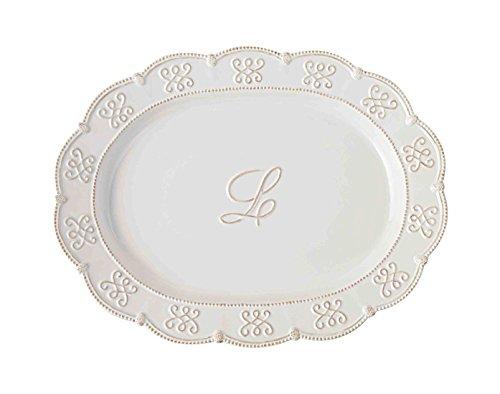 Mud Pie L Initial Oval Serving Platter