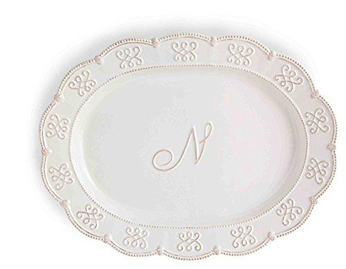 Mud Pie N Intial Oval Serving Platter