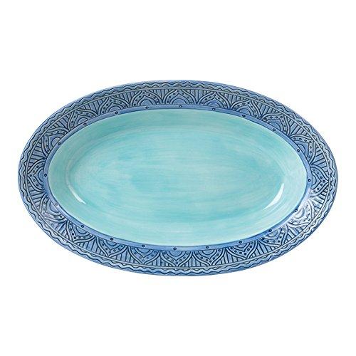 Paisley Park Collection Oval Serving Platter Pastel