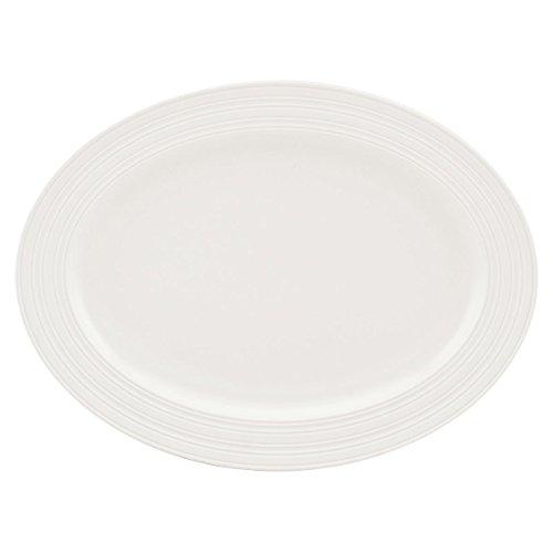 Kate Spade New York Fair Harbor Dinnerware Truffle 16 Oval Serving Platter White Stoneware