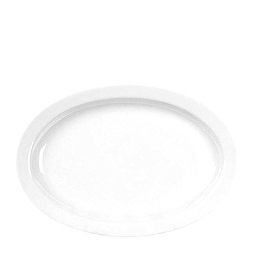 Thunder Group NS515W Nustone White Platter NR 14 12 x 9 58 SET OF 6 PER CASE