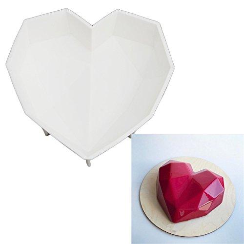 CH Silicone Bakeware Valentines Heart Shaped Cake Mold Chiffon Cake Baking