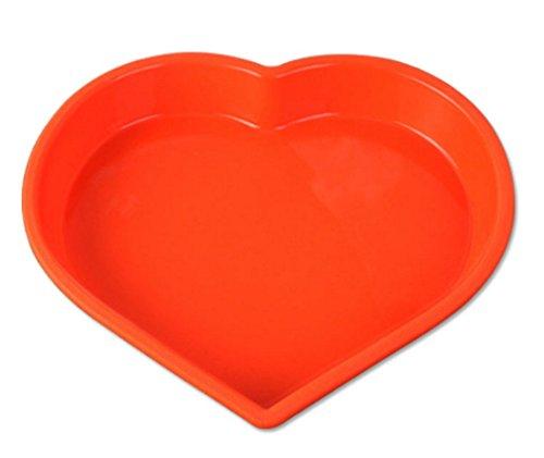 Heart-shaped cake mold silicone pudding fruit