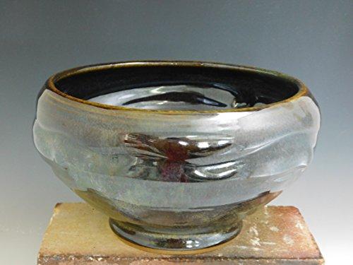 Large Serving Bowl Stoneware Ceramic Wheel Thrown on Potters Wheel Popcorn Fruit