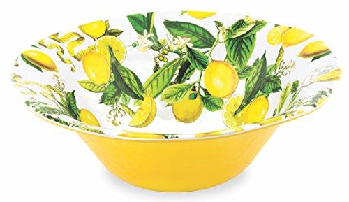 Michel Design Works Melamine Large Serving Bowl Lemon Basil