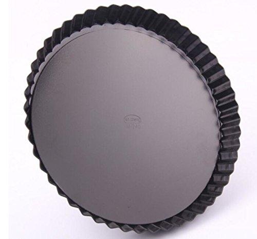 Ancdream 10 inch Non-Stick Removable Loose Bottom Quiche Pan Round Tart Quiche Pan