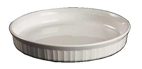 Corning Ware French White Round Quiche Pan  10 12   F-3-B