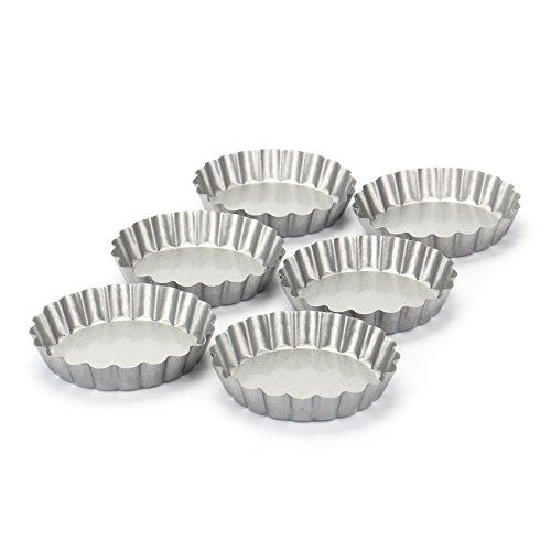 Tosnail 4 Non-stick Round Mini Tart Quiche Pan - Pack of 6