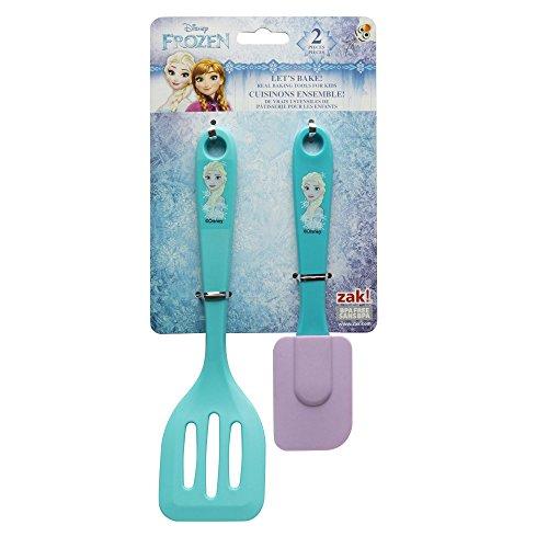 Zak Designs FZNN-S070 Disneys Frozen Elsa 2 Piece Kids Baking Set Decorated