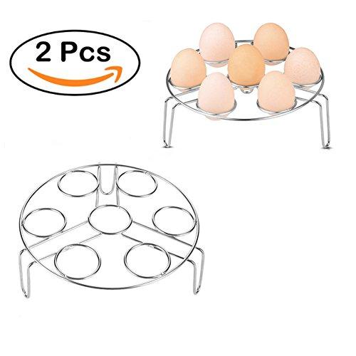 DSSY 2 Pack Stainless Steel Steam Rack Egg Cooker Steamer Stand Rack for Instant Pot and Pressure Cooker
