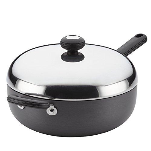 Circulon 83859 Classic Hard Anodized Nonstick Chef Pan  Saute Pan  Frying Pan - 4 Quart Gray