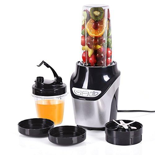 Costzon Fruit Blender Mixer Grinder Vegetable Processor 1000W 2 Speed 2 Cups Included