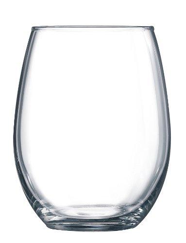 Luminarc 15 Ounce Stemless White and Red Wine Glasses Set of 12 Tumbler Glasses Set Best Wine Goblet Glasses Bulk