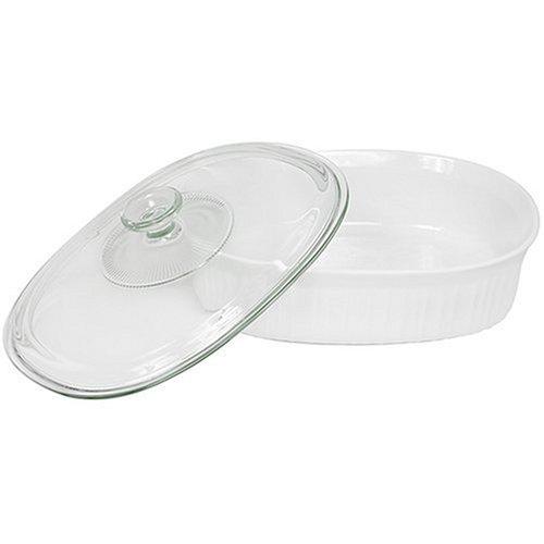CorningWare 2-12-Quart Oval Casserole Dish with Glass Lid