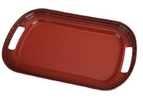 Le Creuset Stoneware 14 Oval Serving Platter Cerise Cherry Red