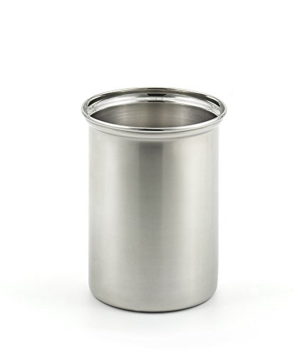 StainlessLUX 75334 Brilliant Stainless Steel Utensil Holder  Kitchen Crock - Quality Kitchenware for Your Home