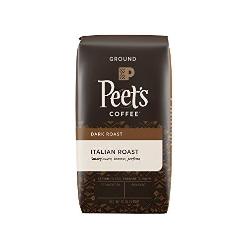Peets Coffee Italian Roast Dark Roast Ground Coffee 12 Ounce Bag