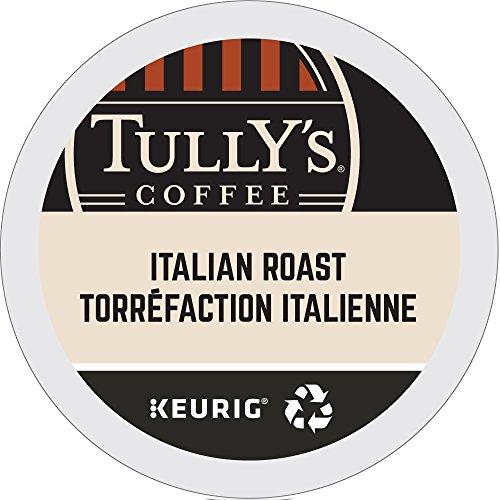 Tullys Coffee Italian Dark Roast Keurig Single-Serve K-Cup Pods Dark Roast Coffee 24 Count