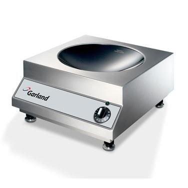 Garland SHWO3500 Countertop Induction Wok-Line Cook Top with 118 Diameter Ceran Ceramic Glass Bowl Top 35 kW