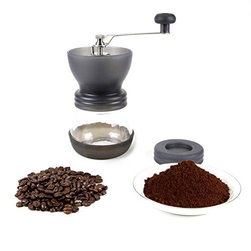Black Manual Coffee Grinder, Burr Espresso Coffee Grinder -food Saftey Ceramic, Hand-crank Coffee Mill