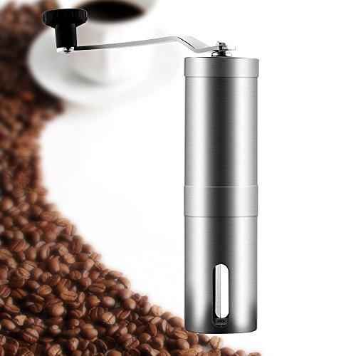 Manual Coffee Grinder, Oria® Conical Ceramic Burr Coffee Bean Grinder - Hand Coffee Mill - Aeropress Compatible