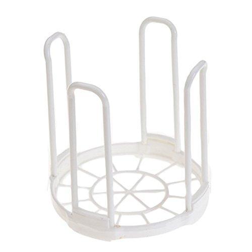 DaWa Bowl Rack Round Foldable Cup Bowl Dish Drainer Holder Organizer Dish Drying Rack Plastic Kitchen Plate Grids Drainer Colanders Storage Frame White dish rack