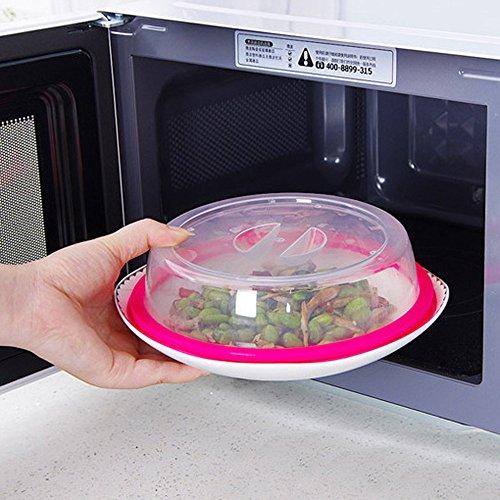 Hli-SHJHsmu Microwave Food Cover Plate Vented Splatter Protector Clear Kitchen Lid Safe Vent Dust Cover Splash Proof Cover Microwave Cover