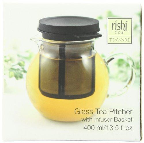 Rishi Tea Glass Pitcher 135 Fl Oz with Infuser Basket