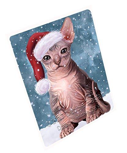 Let It Snow Christmas Happy Holidays Sphynx Cat Cutting Board CUTB174 Large