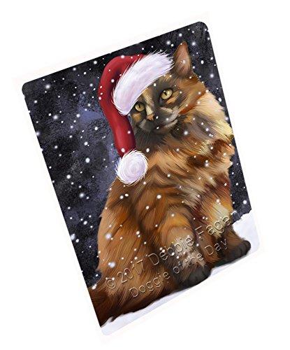 Let It Snow Christmas Happy Holidays Tortoiseshell Cat Cutting Board CUTB213 Small