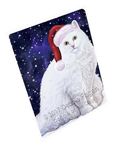 Let It Snow Christmas Happy Holidays Turkish Angora Cat Cutting Board CUTB219 Small