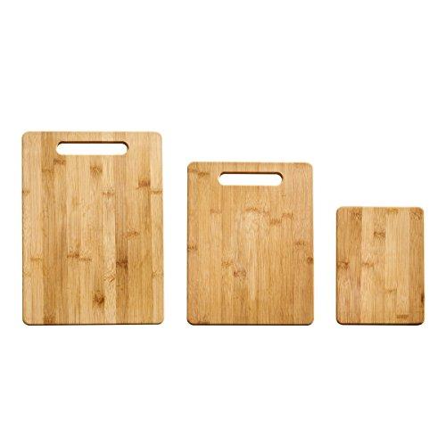 Farberware 3-Piece Bamboo Cutting Board Set Assorted Sizes