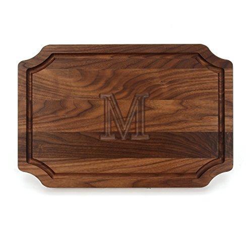 BigWood Boards W310-M Cutting Board Personalized Cutting Board Large Cheese Board Walnut Wood Cutting Board and Serving TrayM